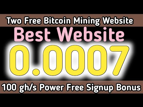 Two Free Bitcoin Mining Website 2020 , Free Cloud Mining Website 2020 , Free Btc Earn , Ahmad Online