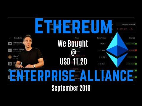 Enterprise Ethereum Alliance - Get Rich with Ethereum - Bitcoin news 2020