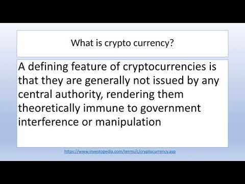 Crypto Currency: New Age Money or Scam?