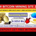 Spacemining.Online ! OMG ! New Free Bitcoin Mining Site ! 1000 Gh/s Signup Bonus ! 1000 Satoshi Free