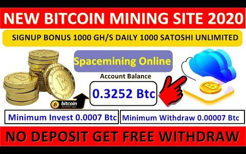 Spacemining.Online ! OMG ! New Free Bitcoin Mining Site ! 1000 Gh/s Signup Bonus ! 1000 Satoshi Free