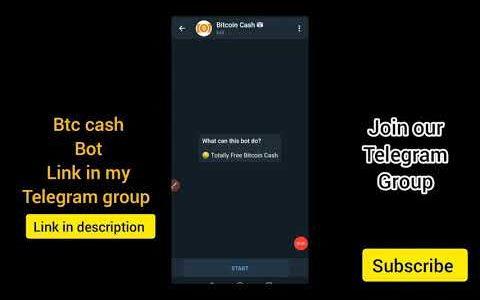 Bitcoin cash telegram bot |instant withdraw