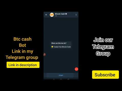 Bitcoin cash telegram bot |instant withdraw