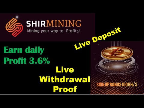 Free Bitcoin mining sites without investment 2020 | Shirmining | Live Withdrawal proof