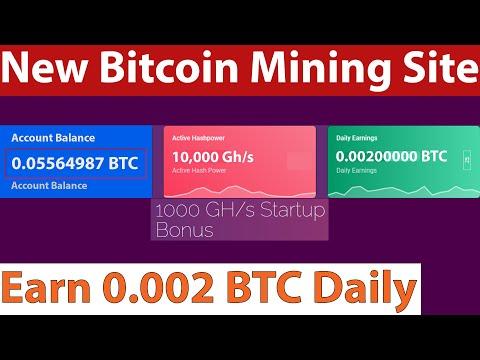 Stockmining - New Free Bitcoin Mining Site - Free 1,000 Gh/s Sign Up Bonus