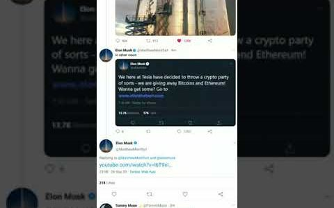 Fake Elon Musk on Twitter (Bitcoin giveaway scam) #Shorts