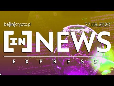 Tańsze opłaty ETH, Binance zbanowane, Bitcoin przez satelity? - [in]NEWS Express - 27.09.2020