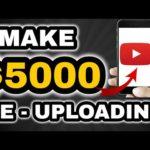 Make $5000 Per Month Re-Uploading Content On Youtube 🌟 Make Money Online