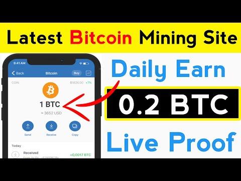 Daily Earn 0.2 BTC   New Latest Bitcoin Mining Site   New Bitcoin Mining Site   Free BTC Mining Site