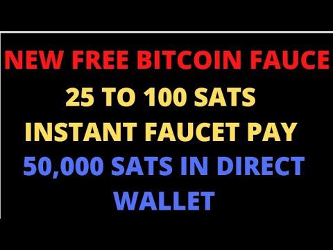 RB M NEW BITCOIN FAUCET SITE2020 EARN FREE BITCOIN INSTANT PAYMENT FAUCETPAY  50,000 SATS DIRECT