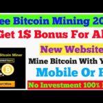 Bitcoin Mining In Hindi 🔥🔥🔥 Get 1$ Bonus 100% Free