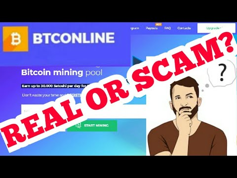 BTCONLINE.IO BITCOIN CLOUD MINING SITE. IT IS A REAL OR SCAM? 2020