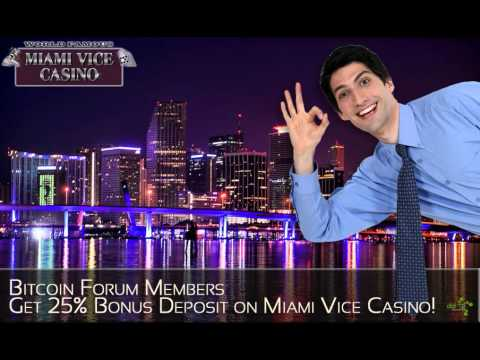 DatSyn News - Bitcoin Forum Members Get 25% Bonus Deposit on Miami Vice Casino!