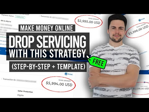 Make Money Online Drop Servicing With This FREE Strategy (STEP BY STEP + TEMPLATE)