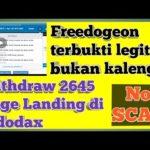 Freedogeon Part 1 || Dogecoin Gratis || Withdraw 2645 Doge No Scam