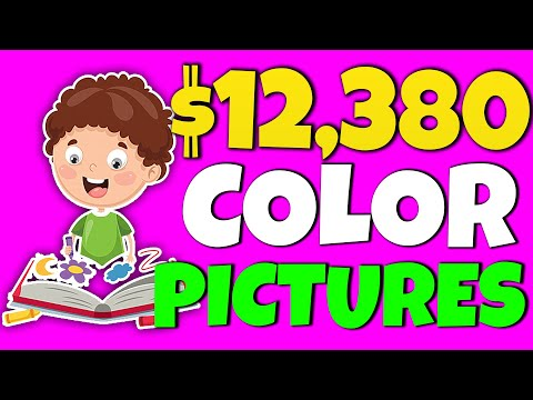 Earn  $12,380 For Coloring In Pictures FOR FREE (Best Make Money Online Trick 2020)