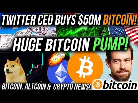 TWITTER CEO BUYS $50m BITCOIN!! HUGE BITCOIN BREAKOUT!! USA GOV PUMPING BITCOIN! Crypto News