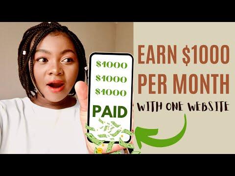 Earn $1000 Per Month In Passive Income  (make money online)
