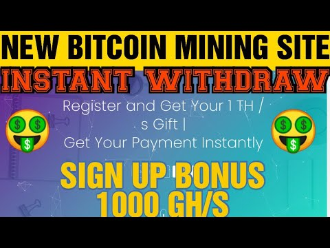 New Bitcoin Mining Site 2020 | Without Investment | Sign Up Bonus 1000 Gh/s | 100% Legit✓✓