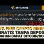 FREE CRYPTO MINING, START HIGH SPEED 2750 GH/S - CUMA REBAHAN BITCOIN/DOGE DATANG SPEED 2750 GH/S