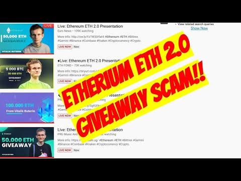 Etherium ETH 2 0 Presentation SCAM FAKE Giveaway