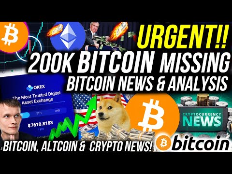 200,000 BITCOIN MISSING FROM EXCHANGE! BITCOIN $1m in 2025?! Bitcoins News & Analysis! Crypto News