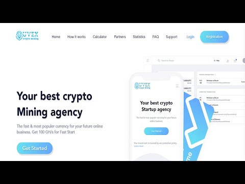 Uvex-New Free Bitcoin Cloud Mining Site 2020-Signup Bonus 100Gh/s-Daily Earn 0.001BTC