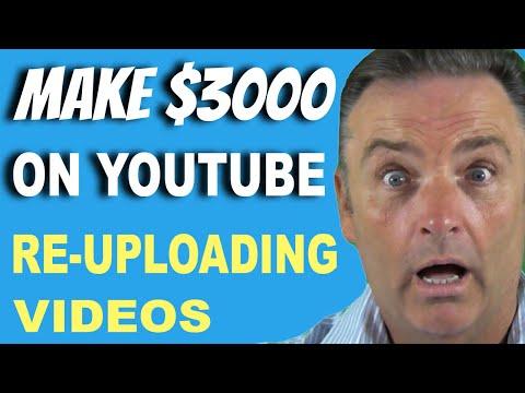 Earn $3,000+ On YouTube Re-uploading Videos Using Clickbank - Make Money Online