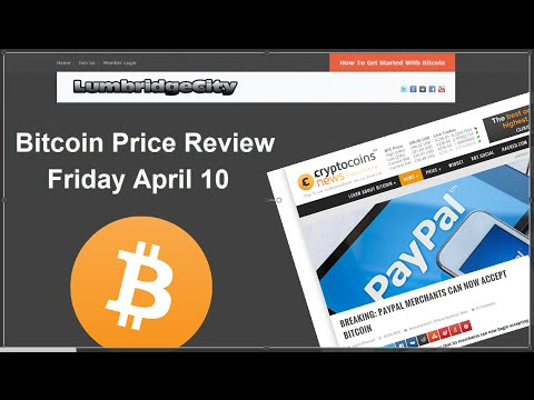 Bitcoin Prices Slide - Lower Prices May Be Imminent. Friday April 10