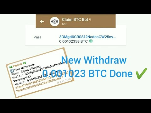 CLAIM_BTC_BOT New Withdraw Proof 0.001 Bitcoin | Legit or Scam? | Earn btc with Cryptos Flaying
