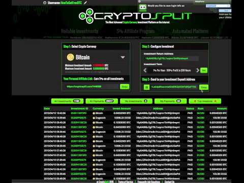 Learn How to Get a 200% ROI with BITCOIN Investing – CryptoSplit Review