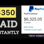 "FREE PAYPAL MONEY $350 PAID INSTANTLY  ""New Website"" 