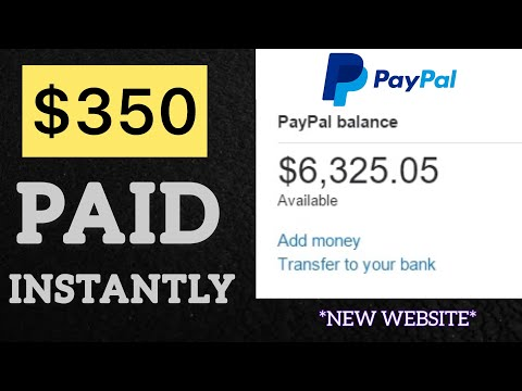 """FREE PAYPAL MONEY $350 PAID INSTANTLY  """"New Website"""" 