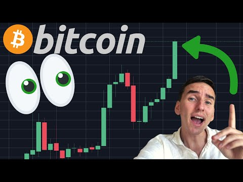 BITCOIN IS BREAKING OUT RIGHT NOW!!!! BULLISH MONTHLY CANDLE!!!!