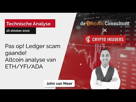 Pas op Ledger scam gaande! Prijs analyse van ETH/YFI/ADA