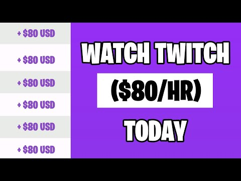 Earn $80 Per Hour Watching Videos On Twitch Tv (Make Money Online For Beginners)