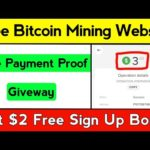 Mydoge.biz Payment Proof, Giveway, New Bitcoin Mining Site, New Launched Free Bitcoin Mining Website