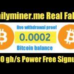 Dailyminer.me Payment Proof   Bitcoin Mining Website 2020   New Cloud Mining Website   Ahmad Online