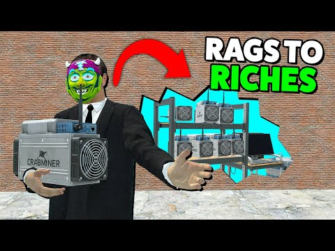 Bitcoin Mining Set Up Hidden Base Behind A Wall in Gmod Darkrp Rags to Riches EP 5