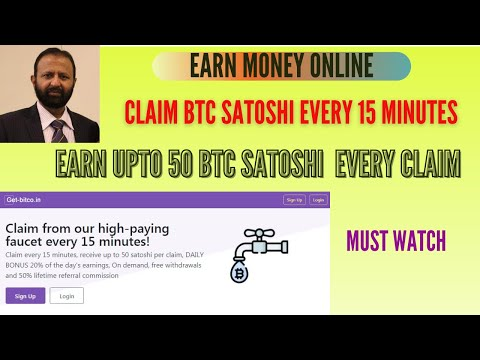 Earn Money Online | Claim BTC Satoshi Every 15 Minues | How To Create Account In get-bitco.in |Hindi
