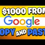 Earn $1000 DAILY FROM GOOGLE SEARCH [Make Money Online For Beginners]