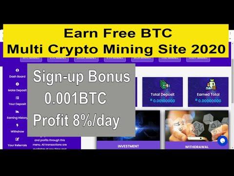 earn free bitcoin mining site 2020 l Sign-Bonus 0.001 BTC l Multi crypto Currency Mining software