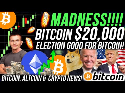 BITCOIN $20,000 AFTER USA ELECTIONS!!!! ETHEREUM 40% BREAKOUT!!!! Crypto News