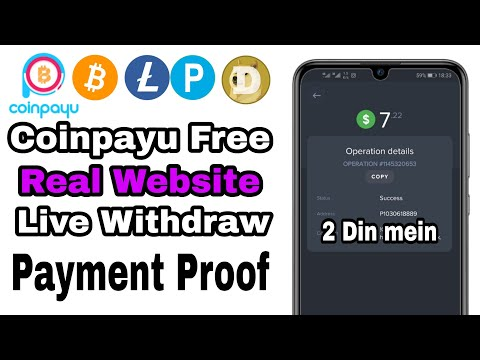 Coinpayu Payment Proof Bitcoin Mining Site USD Website Real Link Discretion main
