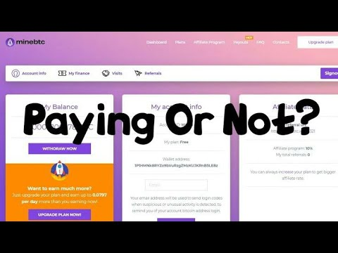 Minebtc.in Payment Proof || Scam or Legit || Bitcoin mining site || How to make money online