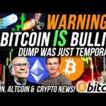 URGENT!!🚨 BITCOIN DUMP IS TEMPORARY!! ETHEREUM PRICE MEGA BULLISH!! Crypto News