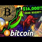 BITCOIN PRICE SMASHES $16,000!!! $BTC NEW 2020 HIGH!!! $18k NEXT?!! BEARS IN DISBELIEF!