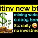 Bitinv new bitcoin mining website 0.0005 sign up bonus for free