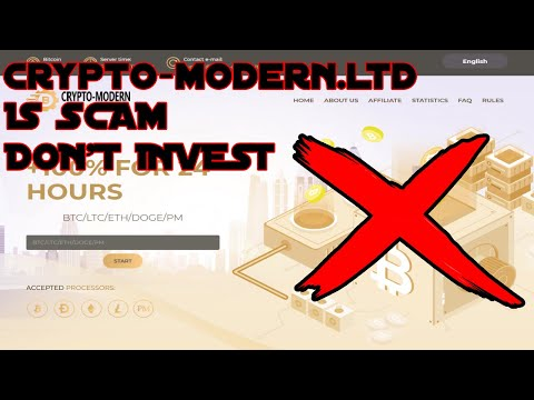 Crypto-modern.ltd | IS SCAM | DON'T INVEST |