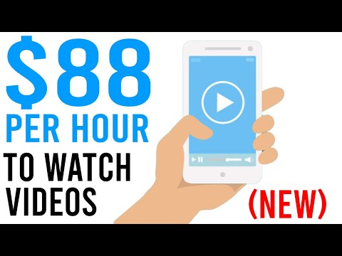 Earn $88 Per Hour Watching Videos Now! - NEW [Make Money Online 2021]